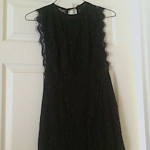 Urban Outfitters open back, black lace dress